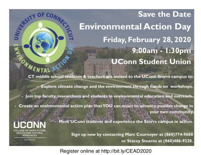save the date flyer for CT Environmental Action Day